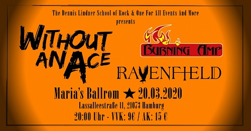 Without An Ace 2020 Banner 500 75718 School of Rock presents: Without An Ace / Ravenfield / Burning Amp